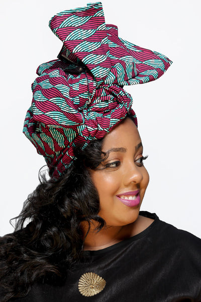 The Wave African Print Head Wrap