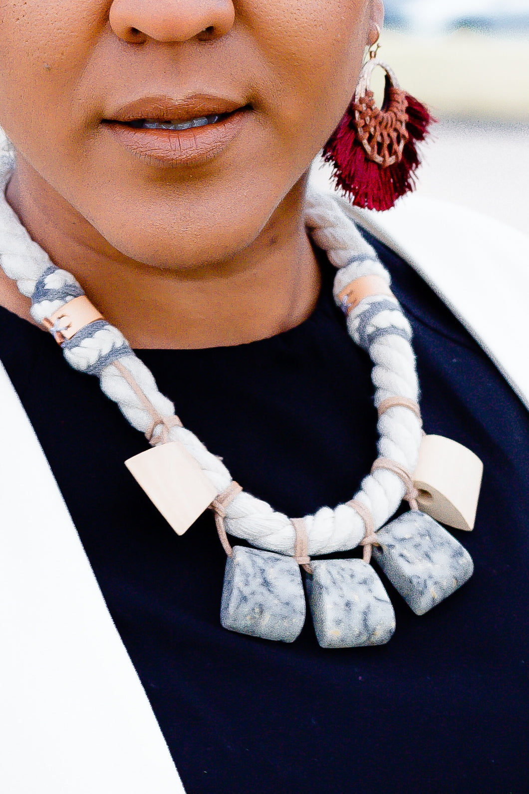 All Roped Up Statement Necklace