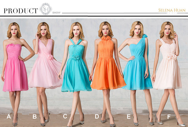 Chiffon Cocktail-length bridesmaid dress