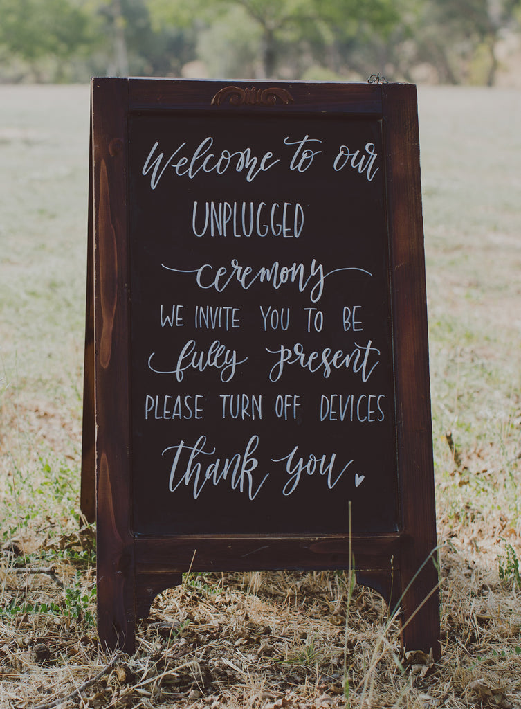 Wood Custom Handwritten Wedding Calligraphy Sign