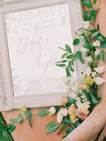 Wood Custom Handwritten Wedding Calligraphy Welcome Sign | Board