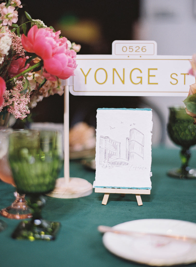 Handmade Paper Custom Handwritten Wedding Calligraphy Table Number