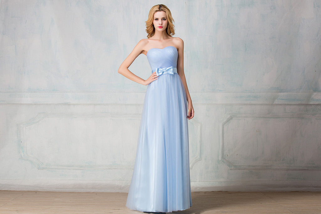 Tulle full-length  bridesmaid  dress