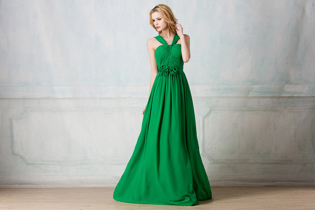 Chiffon Full-Length Bridesmaid Dress