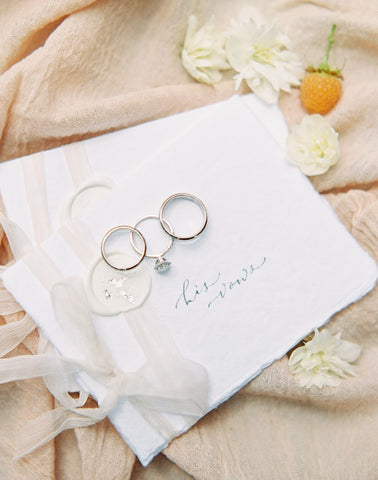Custom Handwritten Wedding Calligraphy Vow Book Set