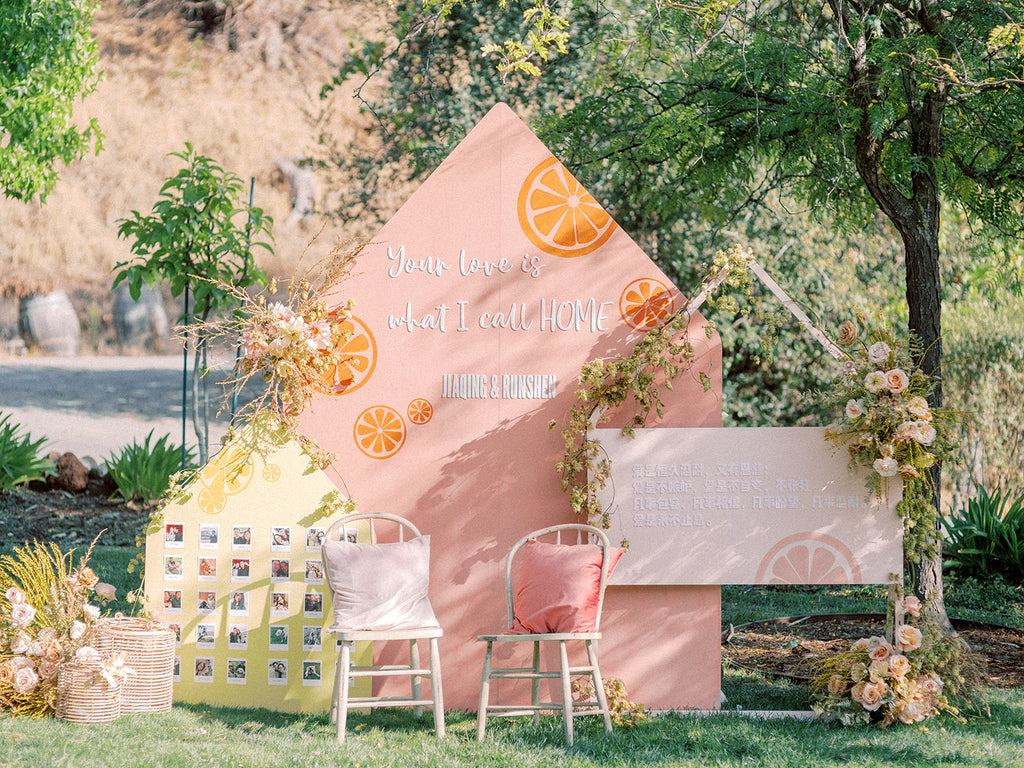 Custom Hand-painted Wedding | Party | Baby Shower Photo booth | Backdrop - Bay Area Rental Only (Self-Standing)