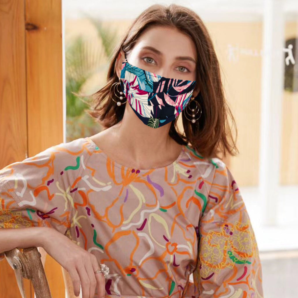 Reversible Fashionable Pure Cotton Face Mask Washable Reusable Light Made-in-USA