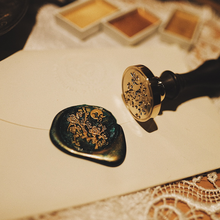 Custom Self Adhesive Botanical Wax Seals