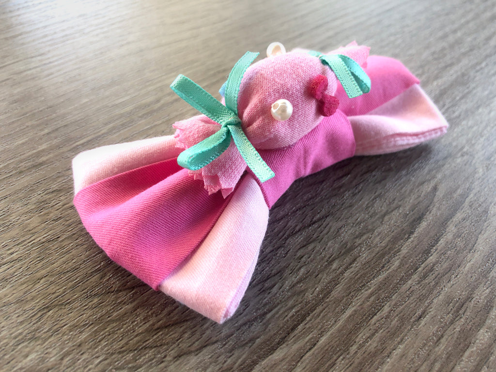 Clover Sweet-Candy Dog Collar Bow Tie - Pink Baby Blue Dog Bow