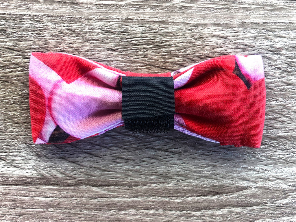 Lilac Dream Dog Collar Bow Tie - Lilac Red Dog Bow
