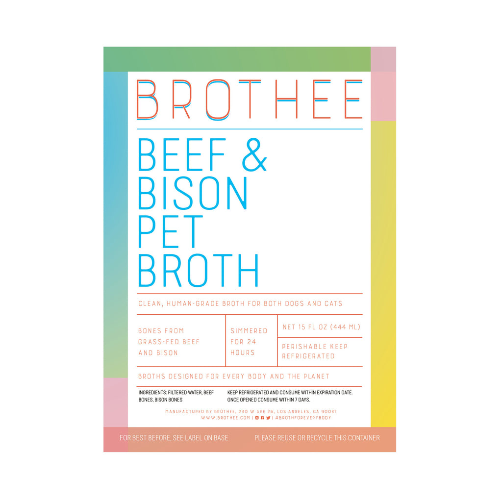 Beef & Bison Pet Broth