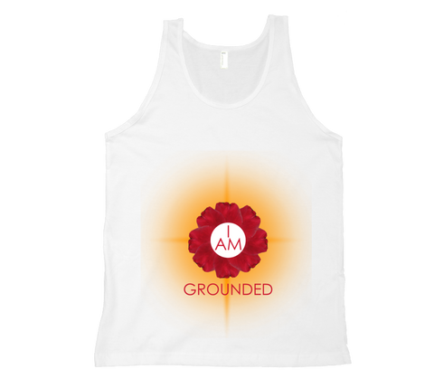 Root Chakra - I Am Grounded Tank Top - White