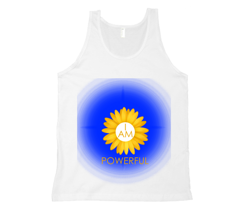 Solar Plexus Chakra I Am Powerful Tank Top - White