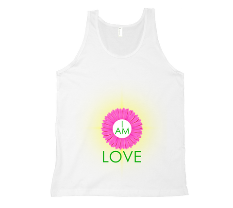 Heart Chakra - I Am Love Tank Top - White