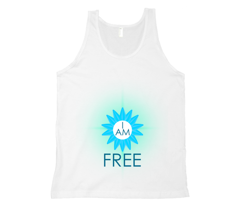 Throat Chakra - I Am Free Tank Top - White