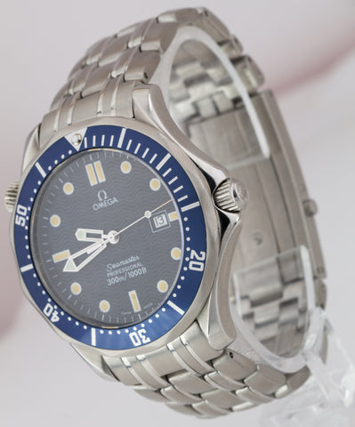 Omega Seamaster Professional 300M Blue Wave BOND Quartz 41mm Watch 2541.80
