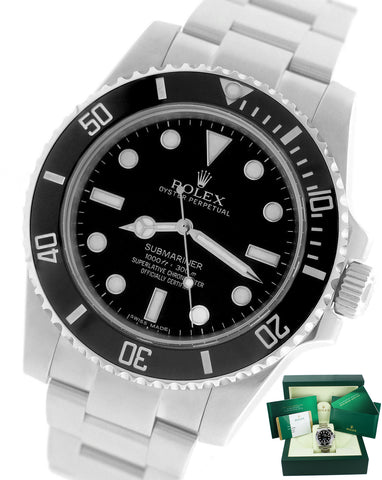 AUGUST 2018 Rolex Submariner No-Date 114060 Stainless Dive Ceramic 40mm Watch