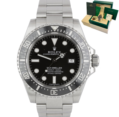 2015 UNPOLISHED Rolex Sea-Dweller 4000 SD4K Ceramic Black 116600 40mm Dive Watch