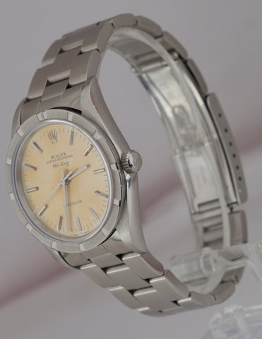 UNPOLISHED Rolex Oyster Perpetual Air-King PATINA 14010 NO HOLES 34mm 14000
