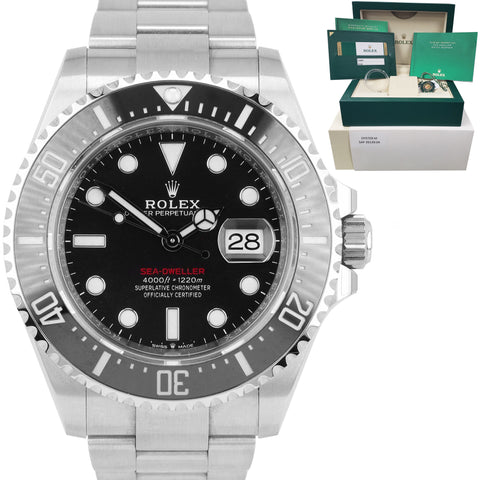UNPOLISHED Rolex Red Sea-Dweller 43mm Mark II 50th Ann. Steel Watch 126600 B+P