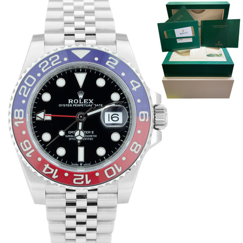 RARE 2018 Rolex GMT-Master II 'PEPSI' MARK 1 MK1 BEZEL Ceramic Watch 126710 BLRO