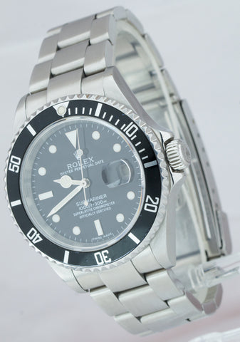 2005 Rolex Submariner Date Stainless Black 40mm NO-HOLES CASE Watch SEL 16610 T
