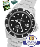 MINT 2000 Rolex Submariner Date Stainless Black 16610 P 40mm Dive SEL Watch