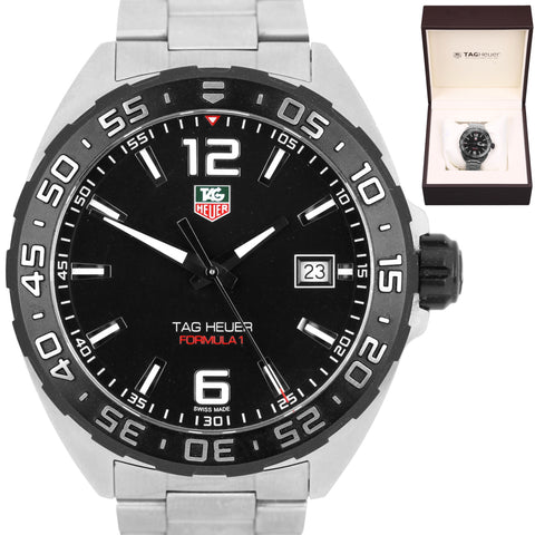 Men's TAG Heuer Formula 1 WAZ1110.BA0875 Black Stainless Steel 41mm Date Watch