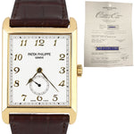 MINT Men's Patek Philippe 5109 J Gondolo Silver Opaline 18K Yellow Gold Watch