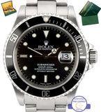 2003 Men's Rolex Submariner Date 16610 Stainless Steel Black Dive Watch SEL