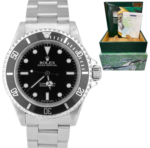 2002 MINT Rolex Submariner No-Date 14060M Stainless F Black Dive 40mm Watch