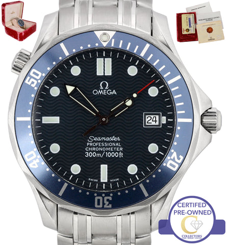 MINT 2002 Omega Seamaster Professional 300M 2531.80 41mm Blue Wave Automatic