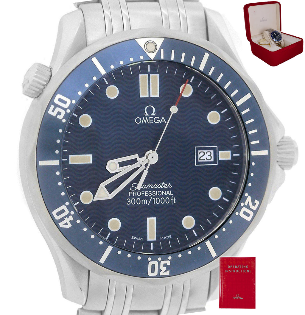 Mint Omega Seamaster Professional 300M 2541.80 Blue Wave Quartz 41mm Watch