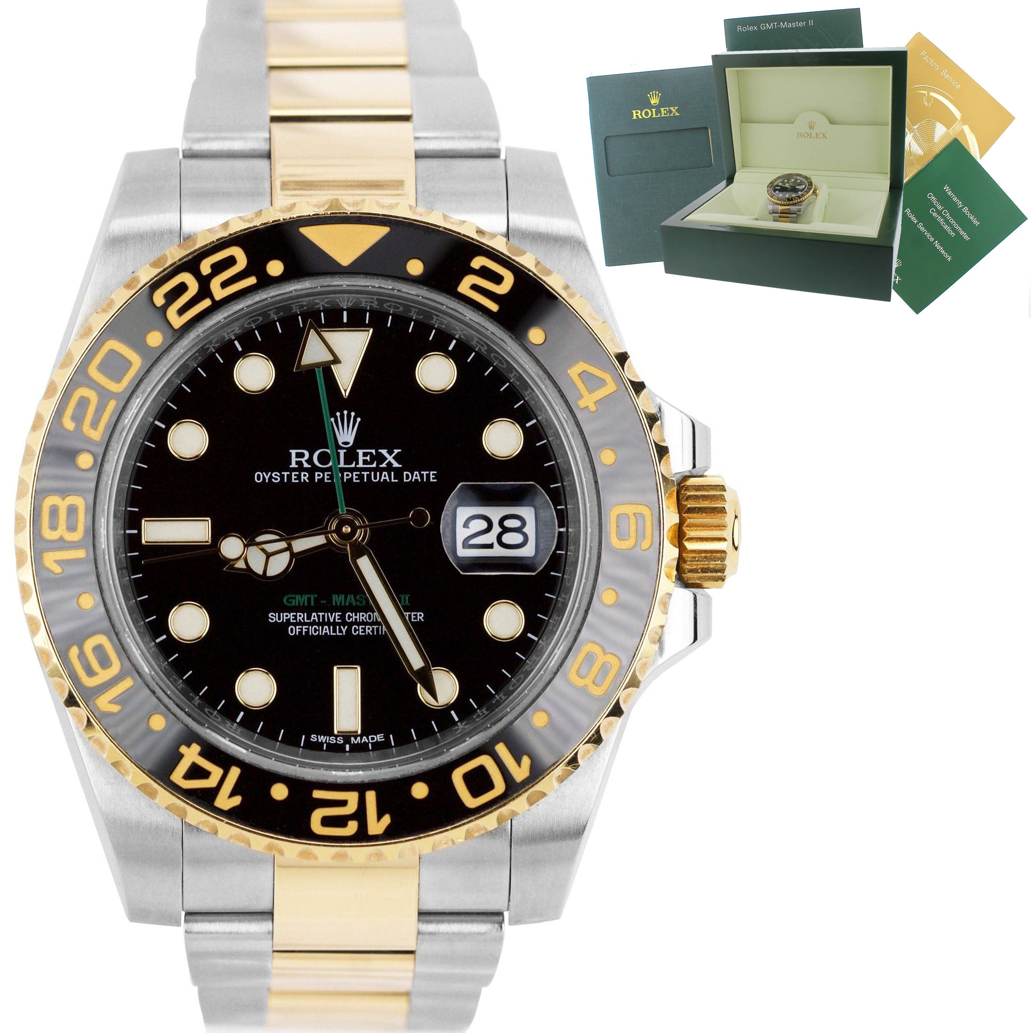 2017 Rolex Gmt Master Ii Ceramic 116713 Black Two Tone Stainless