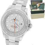 MINT Rolex Yacht-Master ENGRAVED REHAUT Stainless Platinum 40mm Watch 16622 B+P