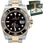NEW 2019 Rolex Submariner Ceramic 116613 N LN Two-Tone Gold Black Dive Watch