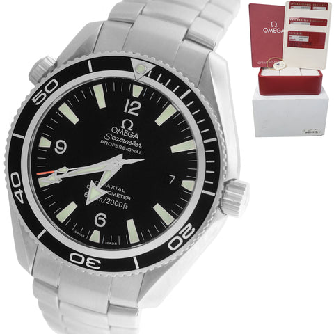 Omega Seamaster Planet Ocean Steel Black 42mm Co-Axial 600M 2201.50.00 Watch