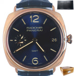 NEW LIMITED BOUTIQUE Panerai PAM 598 Q Radiomir Blue 47mm 18K Rose Gold PAM00598