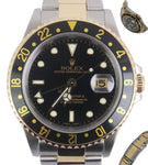 MINT 2005 Rolex GMT-Master II 16713 F Two Tone 18K Gold Stainless No Holes SEL