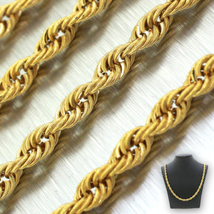 "Men's Modern 14k Solid Yellow Gold 26"" 38.0g Rope Link Chain"
