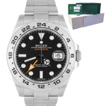 2018 LNIB Rolex Explorer II 42mm 216570 Black Orange Stainless GMT Date Watch