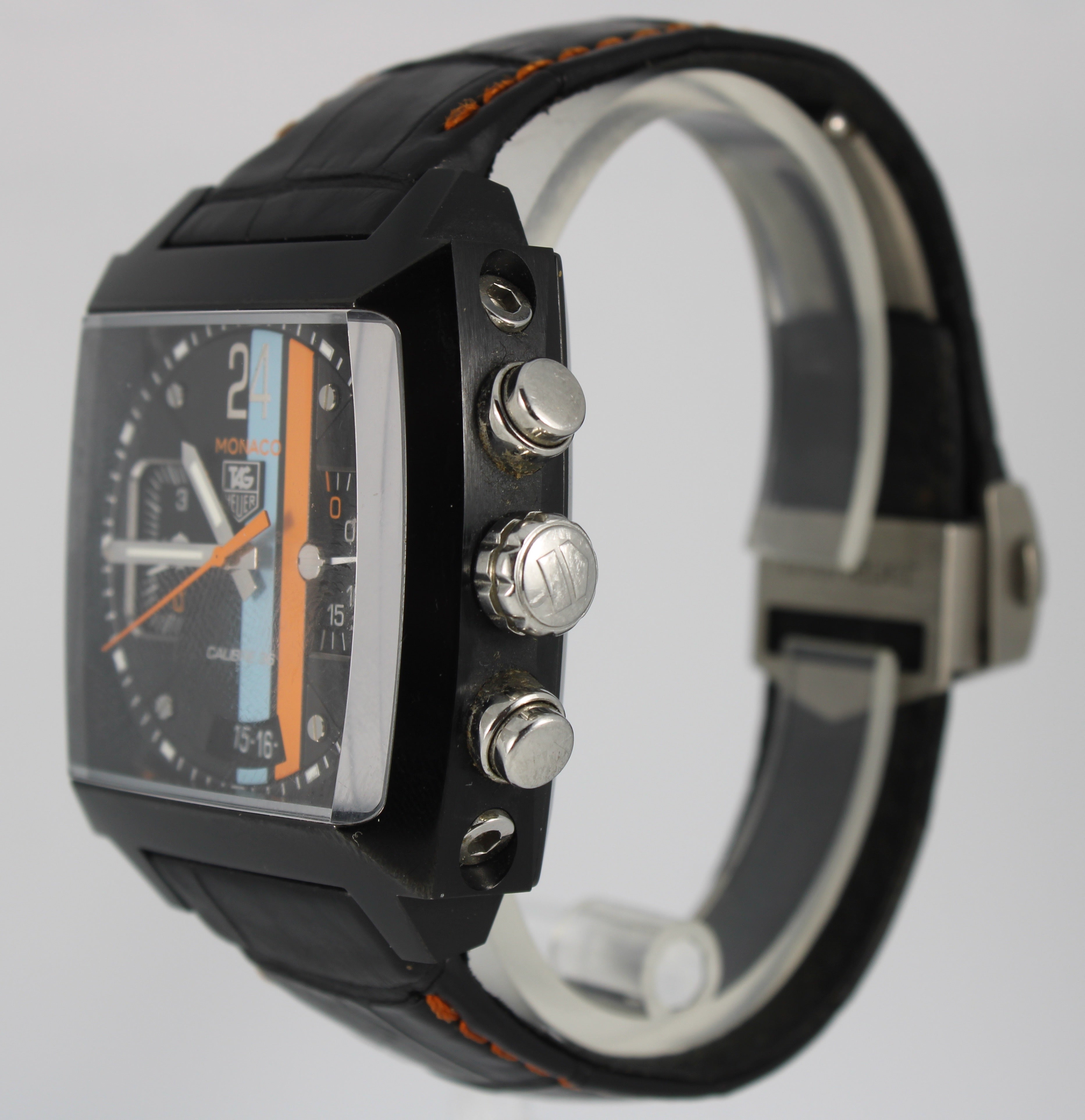TAG Heuer Monaco Chronograph Date Calibre 36 CAL5110 Automatic 40.5mm Black Dial