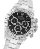 2015 Rolex Daytona Cosmograph 116520 Black Steel Scrambled Chronograph Papers G8