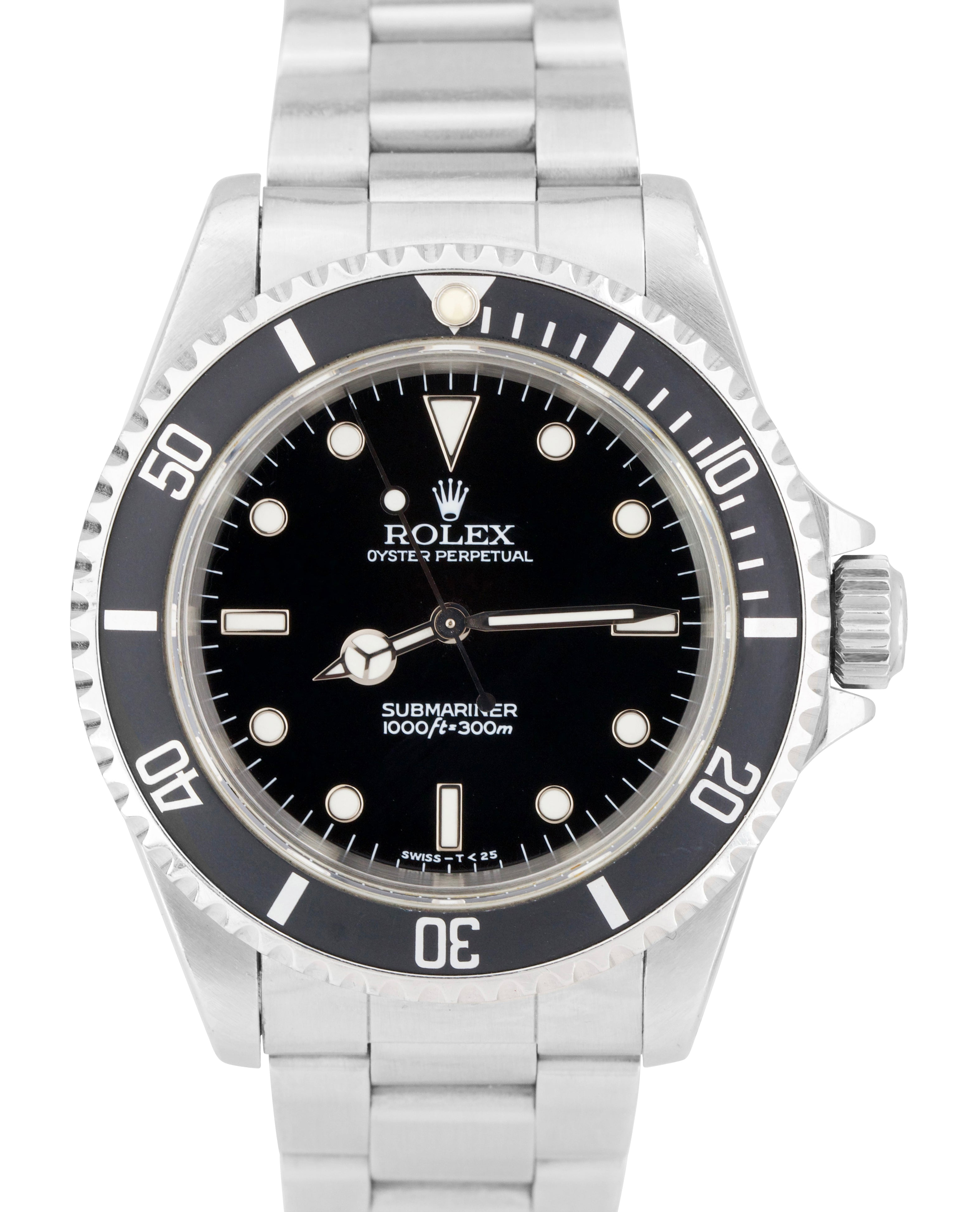 1996 Men's Rolex Submariner No-Date 14060 T SERIAL PATINA Dive 40mm Watch