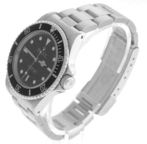 MINT 1998 Rolex Submariner No-Date 14060 Stainless Steel Black Dive 40mm Watch