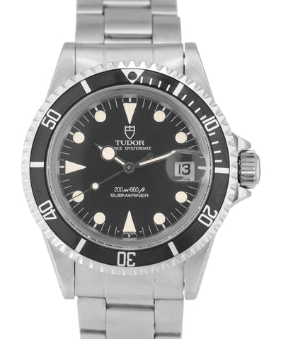 Vintage 1971 UNPOLISHED Tudor Submariner 76100 LOLLIPOP Matte Steel 40mm Watch