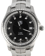 MINT TAG Heuer Link Factory Diamond Black 40mm Quartz Date Stainless WJ1117-0