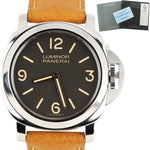 Men's Panerai PAM 390 N Luminor Base Brown Boutique Edition 44mm Watch PAM00390