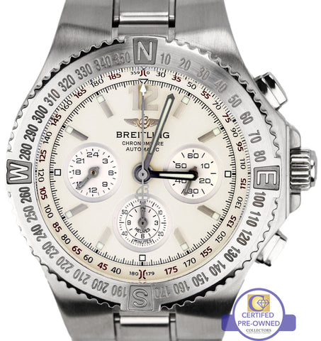 Breitling Chronograph A39363 Hercules 45mm White Steel Automatic Watch A39362