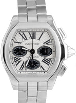 MINT Men's Cartier Roadster XL Stainless Panda Chronograph Watch 3405 W6206020